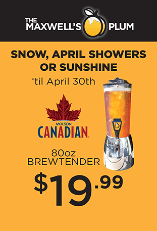 April showers, snow or sunshine, get an 80oz Brewtender of Canadian Molson for only $19.99