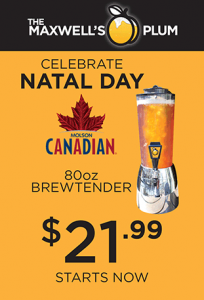 Natal Day Special Molson Canadian 80oz Brewtender for $21.99
